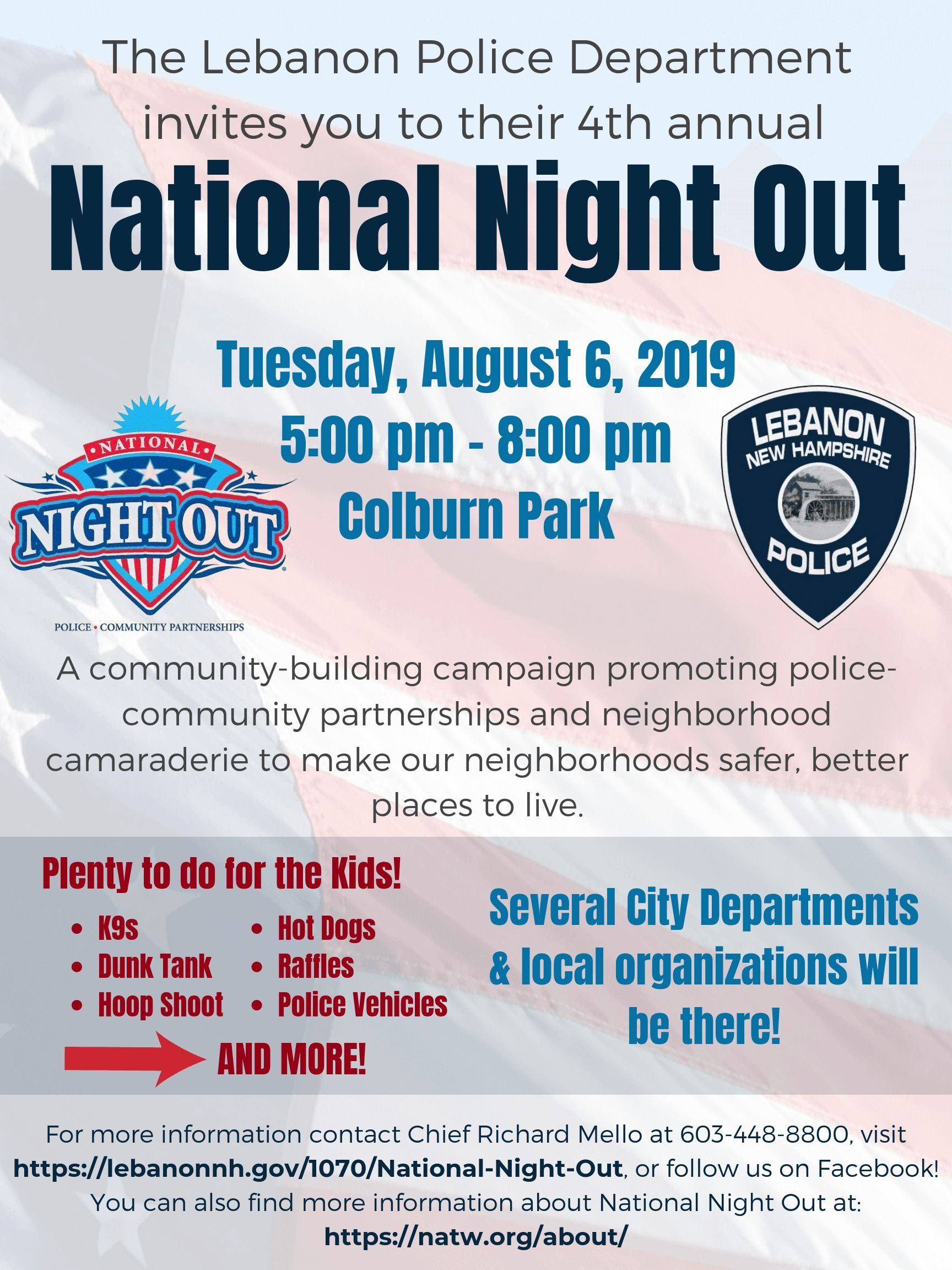 2019 National Night Out Poster