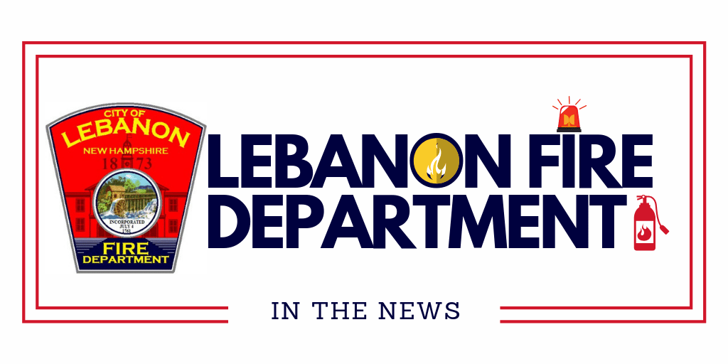 Lebanon Fire in the News with department patch