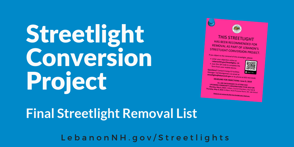 Streetlight Conversion Project Final Removal Notice