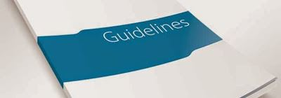 A folder with the word guidelines on it.