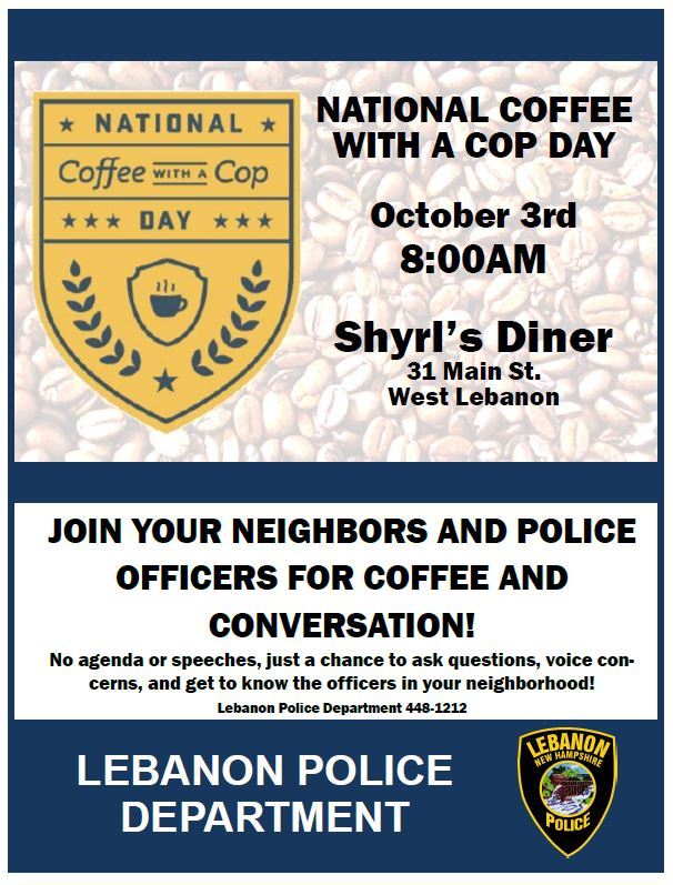 National Coffee with a Cop flyer
