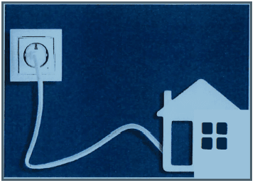 clipart of house plugged into electrical outlet