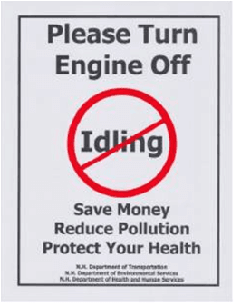 No Idling Signs in Lebanon