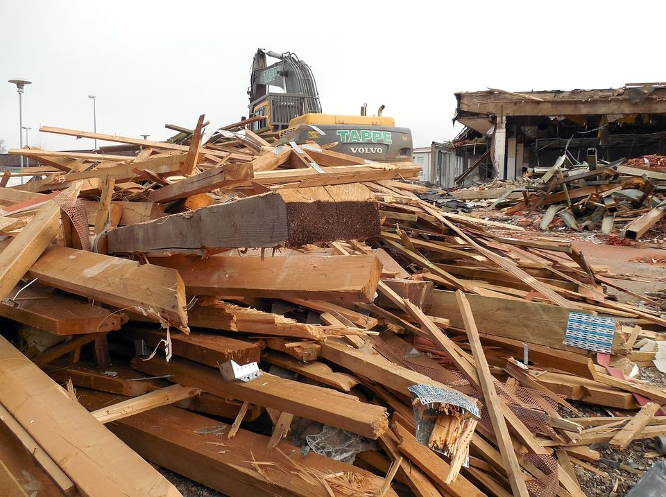 photo of construction and demolition waste