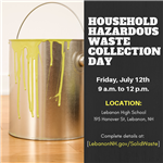 Hazardous Waste Collection Day July 12, 2019 promo
