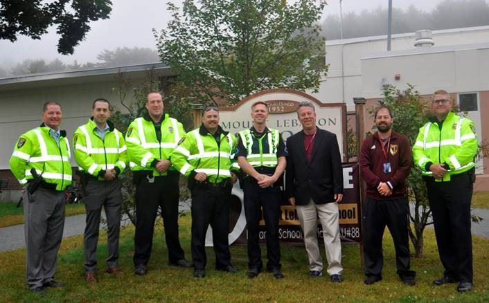 Officers in Walk to School Day