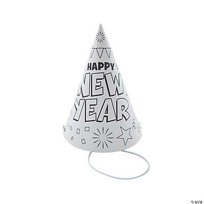 Color Your Own New Year's Eve Party Hat