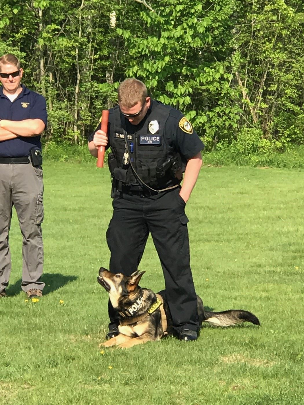 Officer Hewes and K9 Kymba