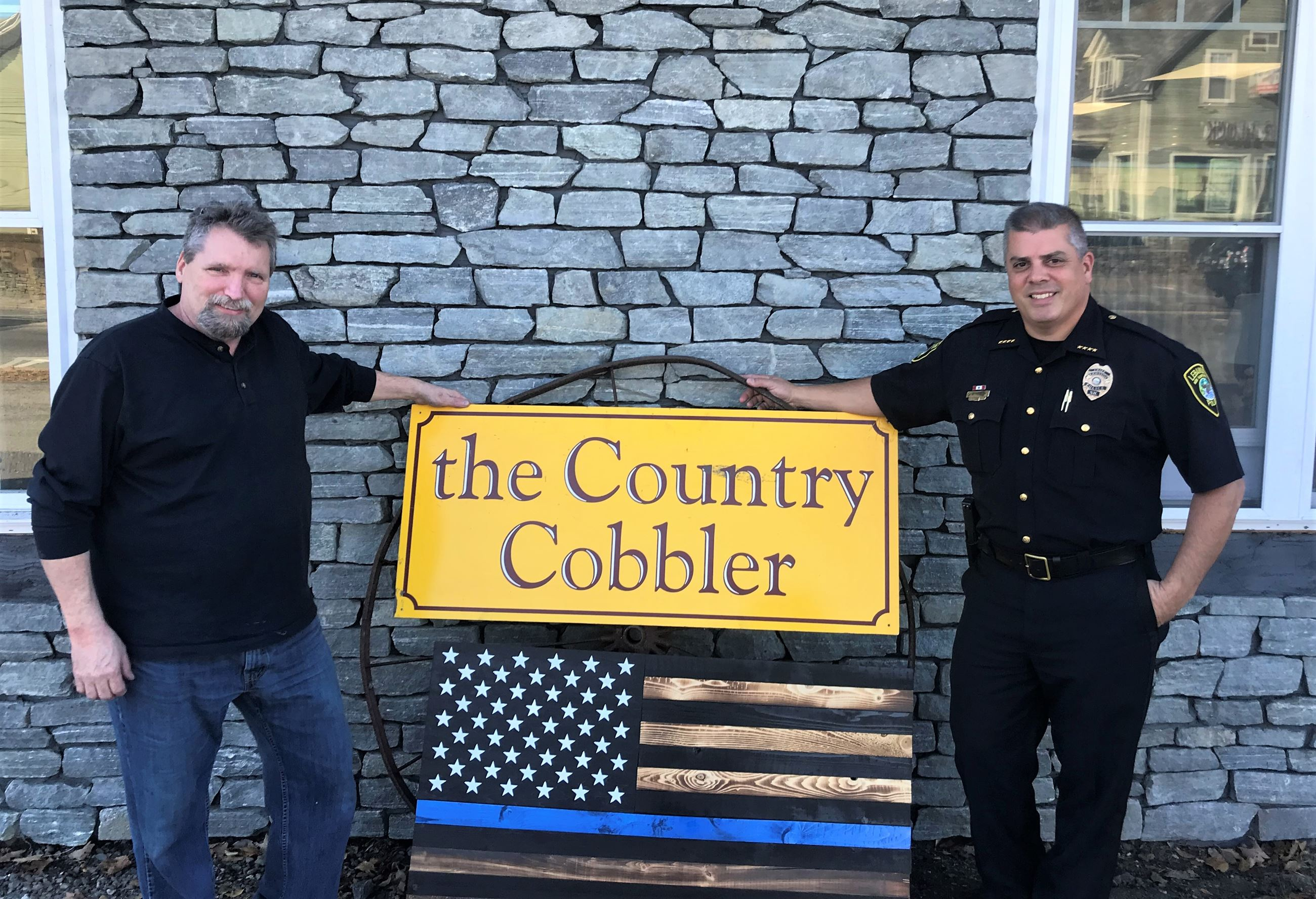 Jeff Peavey from the Country Cobbler, and Chief Mello