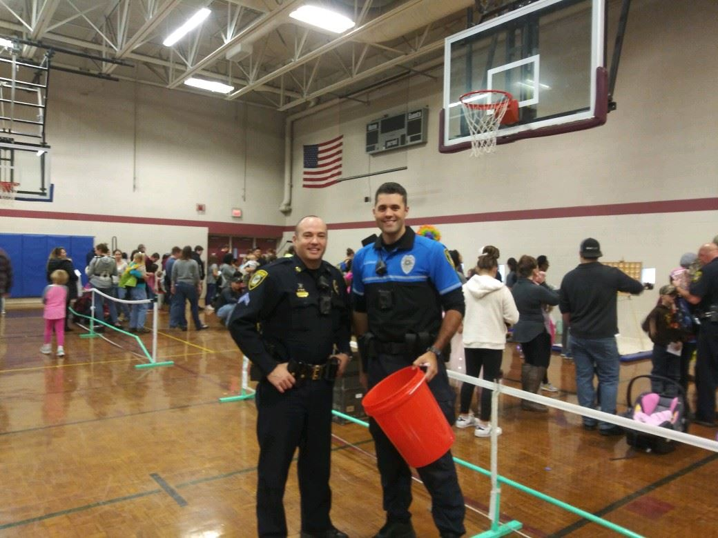 Corporal Leland and Officer Dourado at the Crosspoint Church Carnival