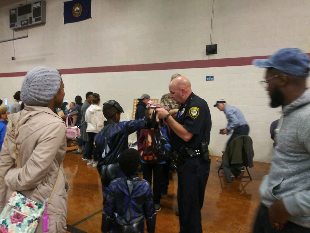 Officer Begin at the Crosspoint Church Carnival